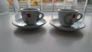 Details about Gaggia Espresso Coffee Cups & Saucers Espresso X 2