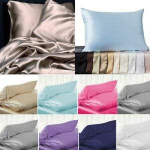 Candy-Colors-100-Pure-Silk-Soft-Pillowcase-Cushion-Cover-Pillow-Case-Home-Decor