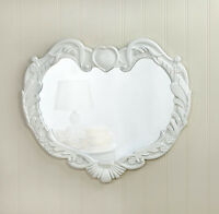 Angel Heart Wall Mirror Home Decorative Reflection Accent Romantic Wooden Framed