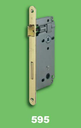 SERRURE AGB PATENT GRAND 595.50.03 MM. 50 ENFILER WC SALLE DE BAIN EN LAITON B/