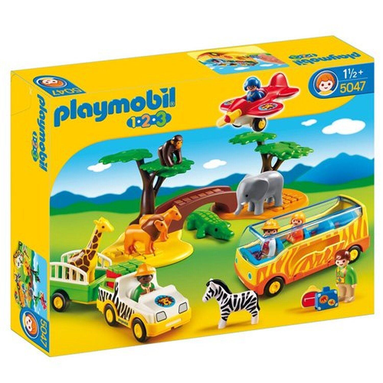 Playmobil 5047 1.2.3 Safari Set - Multi-Coloured