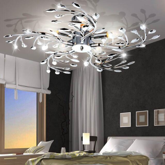 led ceiling lamp leaves design living room lighting chrome spotlight