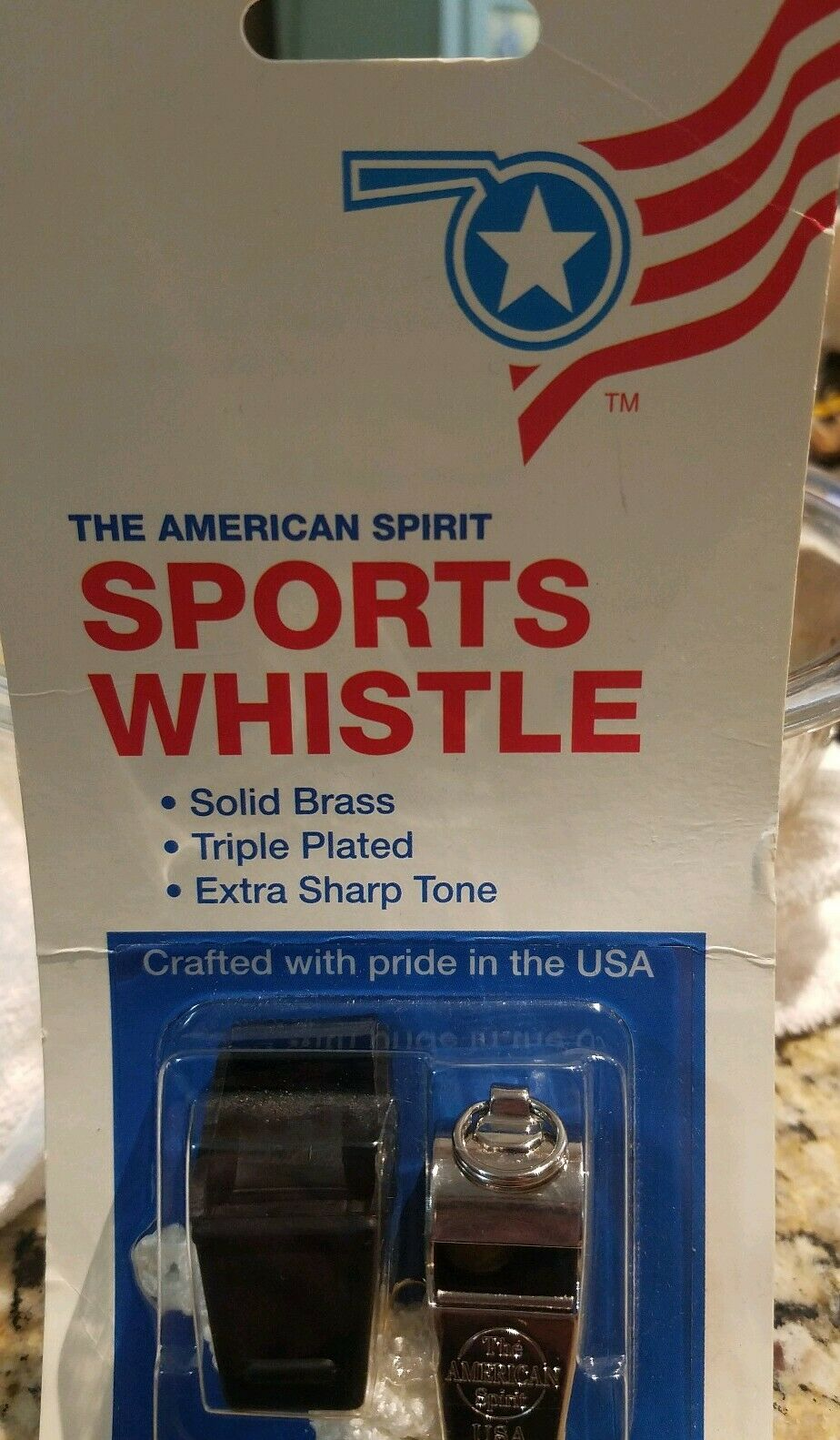 5 Packs of The American Spirit Sports Whistle Solid Brass// Triple Plated