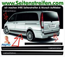Mercedes Benz Viano & Vito Limited Edition Seitenstreifen Aufkleber Set N° 7632