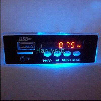 5V/12V MP3 audio decoder board Digital LED remote control usb TF FM radio F CAR