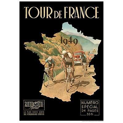 5 Sizes /& Framing Vintage Cycling Poster Tour de France 1950 Print