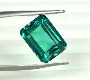 10 Ct Colombian Emerald Loose Gemstone 100% Natural Emerald Cut Certified A25492