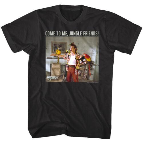 Ace Ventura Pet Detective Jungle Friends Men/'s T Shirt Jim Carrey Comedy Parrots