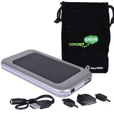 Concept Green CGSA3610-S 3600mAh USB Solar Assist Portable Charger Silver NEW