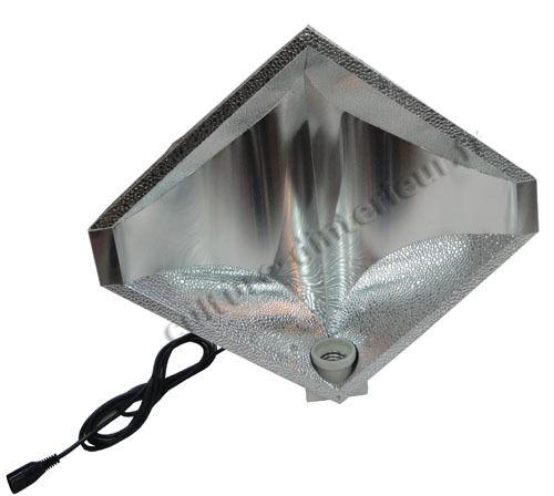 Réflecteur Diamond 250W 400W 600W cablé IEC 3 mètres HPS MH douille E40