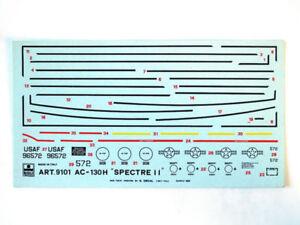 Esci-9101-Vintage-Decals-AC-130H-Spectre-II-1-72-modellismo