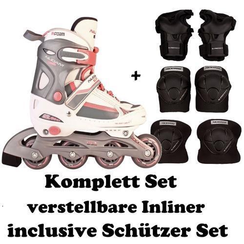 INLINER Inlineskates + Schützerset Größe verstellbar 30-31-32-33 30-31-32-33 verstellbar Skates SOWRG 7b8d0d