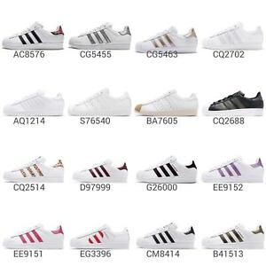adidas-Originals-Superstar-W-Low-Women-J-Junior-Kids-Shoes-Sneakers-Pick-1