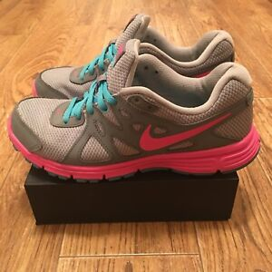 Details about Nike Revolution 2 Women's Running Shoes 554900 013 GreyPink US Size 7