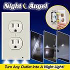 Plug Cover LED Night Angel Wall Outlet Face Hallway Bathroom Light Sensor