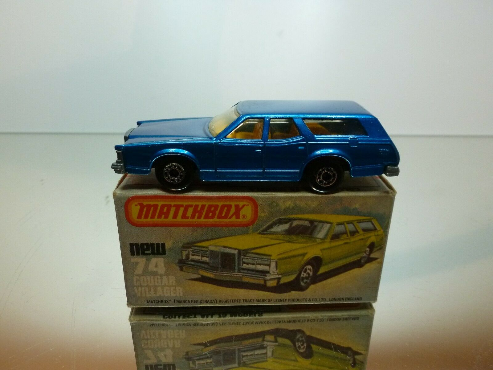 MATCHBOX SUPERFAST 74 MERCURY COUGAR VILLAGER - RARE Farbe - VERY GOOD IN BOX