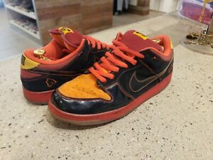 Nike-SB-Dunk-Low-Hawaii-Size-13-Men-Black-Black-Deep-Orange