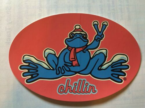 Peace Frogs Chillin Frog Sticker - 6 x 4 -High Quality Vinyl -Made in USA
