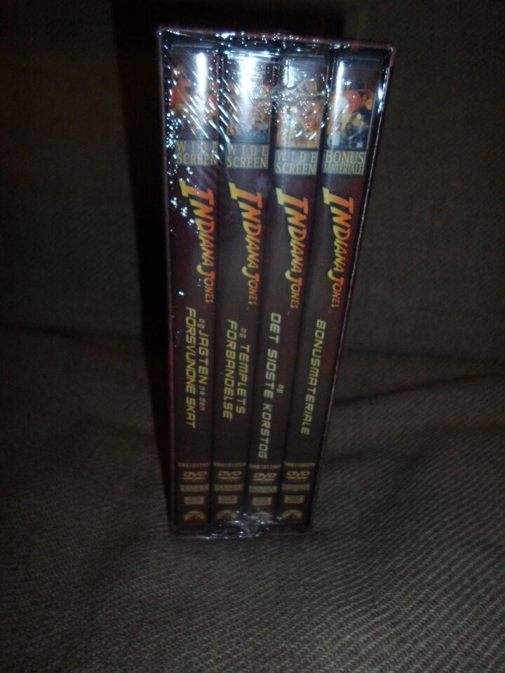 Indiana Jones udgået DVD Boks, instruktør NY I FOLIE !, DVD