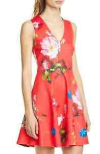 Limited-AUTH-Ted-Baker-KINLE-Berry-Sundae-skater-dress-Ted-Size-0-5