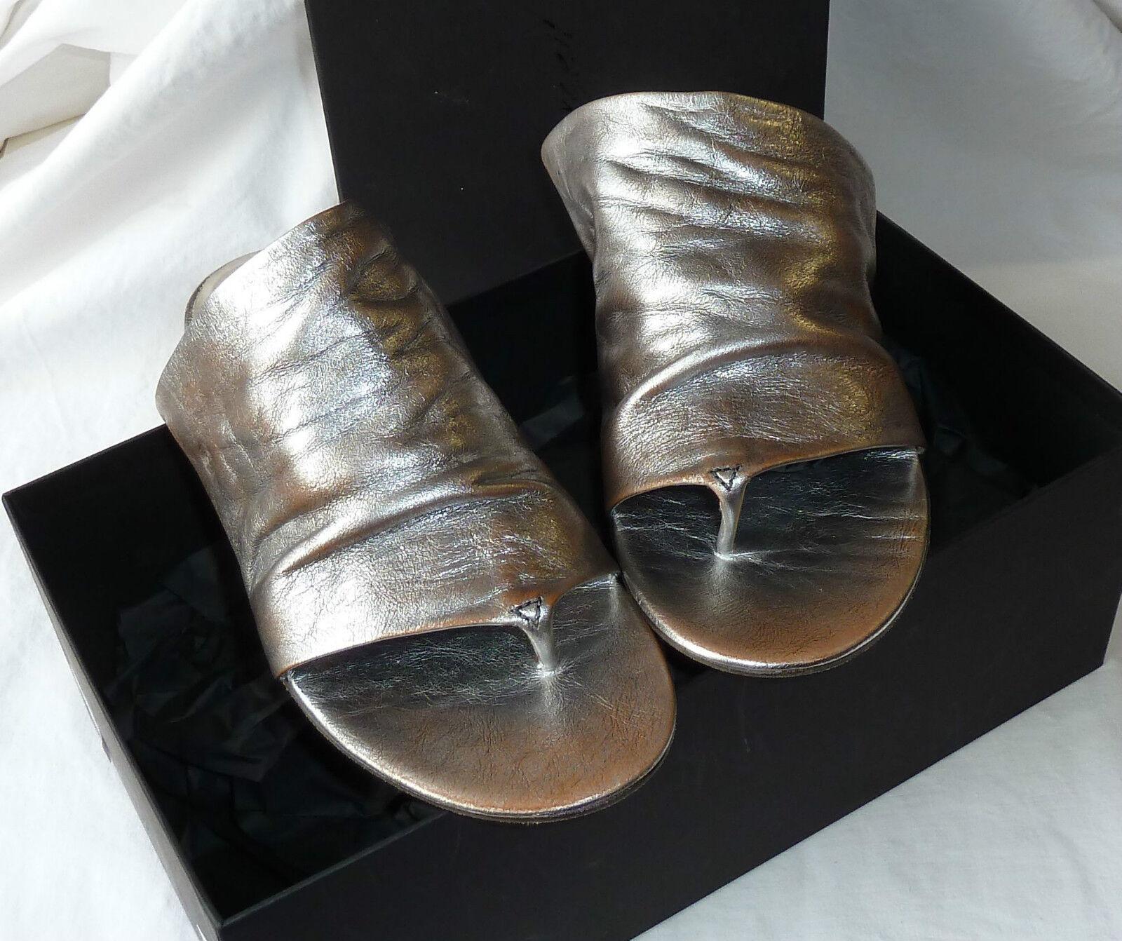❌ marsèll marsell 'arsella' cuero sandalias, /38, plata metálica,