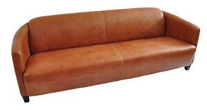 Vintage-Echtleder-Sofa-Rocket-hell-viersitzer-Ledersofa-4-Sitzer