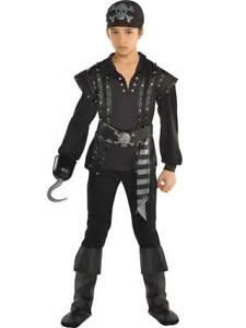 Child-Pirate-Dark-Sea-Scoundrel-Fancy-Dress-Costume-Caribbean-Buccaneer-Boys-Kid