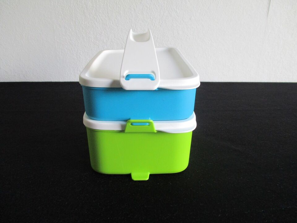Plastik, Klick-to-go Lunchbokse med hank, Tupperware