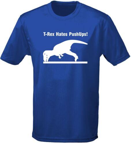 T-Rex Déteste Pompes Dinosaure T-shirt Homme 10 Couleurs par swagwear S-3XL
