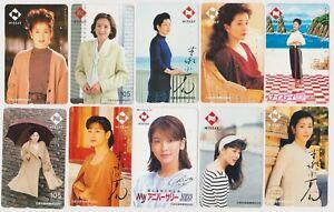LOT de 10 TC JAPON - FEMME Femmes Pub NISSAY - GIRL WOMAN JAPAN phonecards - 3