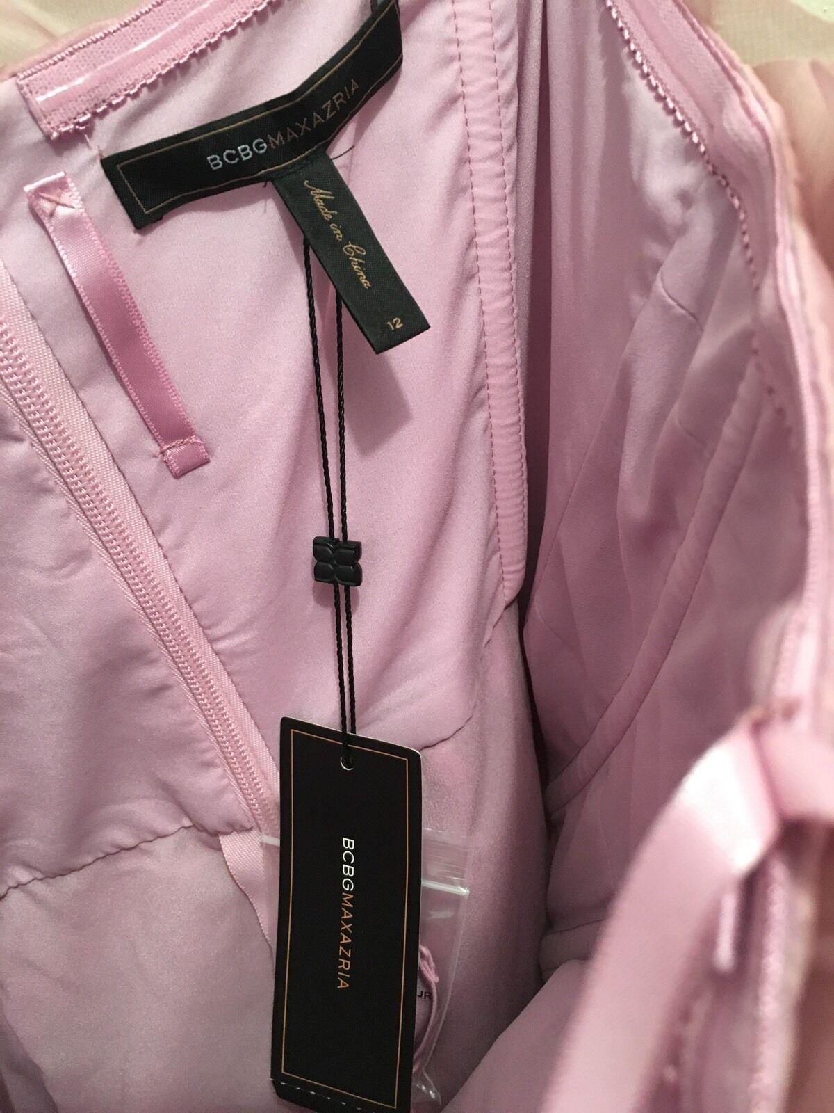 BCBG MAXAZRIA MIGNON STRAPLESS RUFFLE DRESS - Size 12 12 12 RTL  398  885020