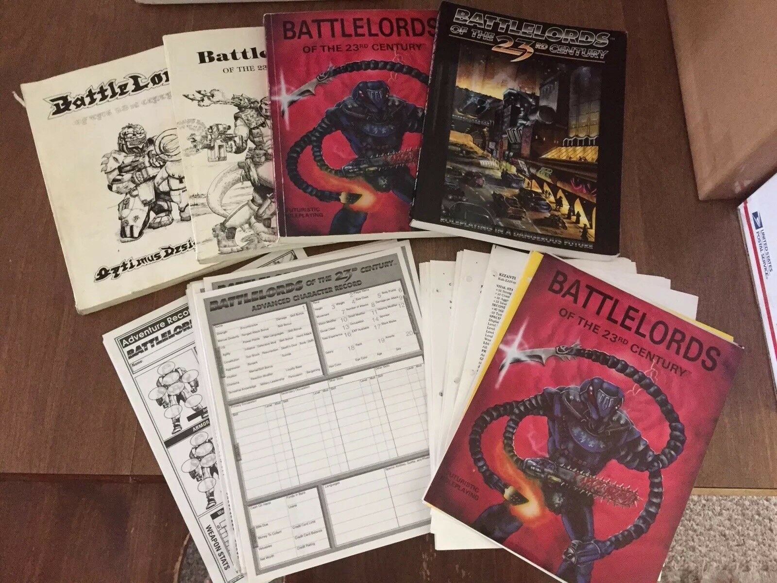 Battlords Of The 23rd Century RPG Four Book Set + Additional Material