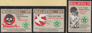 (X127)MALAYSIA 1986 PREVENTION OF DRUGS SET FRESH MH. CAT RM 11