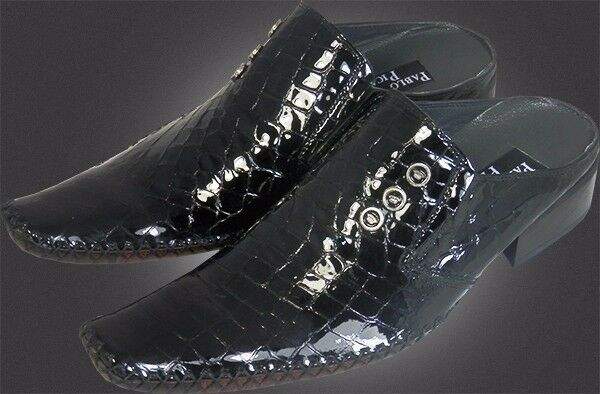 100% pablo picasso-Top Slipper italiana Designer Slipper picasso-Top patrones cocodrilo más de lo negro 3edf4f