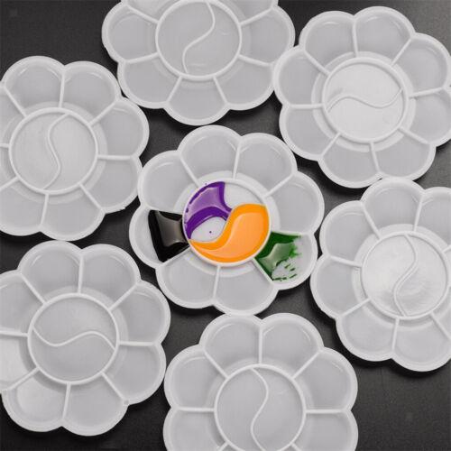 20 Pcs Artist Paint Palette Mixing Plate 10 Well Plastic Painting Art Craft