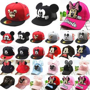 10e5fc40 Mickey Minnie Mouse Baseball Cap Kids Boys Girls Snapback Sports Hip ...