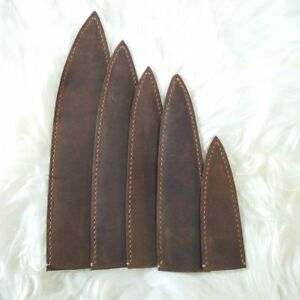 Image is loading Leather-Chef-Knife-Blade-Sheath-Knife-Guard-Saya- & Leather Chef Knife Blade Sheath Knife Guard Saya Chef Knife Storage ...