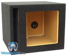 "SINGLE 10"" 100% MDF SQUARE KICKER SUBWOOFER PORTED ENCLOSURE BASS SPEAKER BOX"