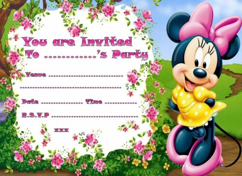 20//pack Minnie mouse V2 A5 taille brillant childrens party invitations