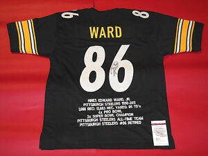 big sale 9a89e b9693 Details about HINES WARD AUTOGRAPHED PITTSBURGH STEELERS STAT JERSEY JSA