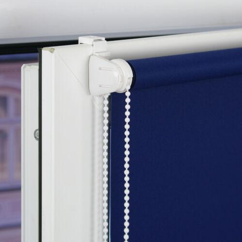 Blau Klemmfix Rollo EASYFIX Seitenzugrollo Klemmträger Länge 150 cm 210 cm