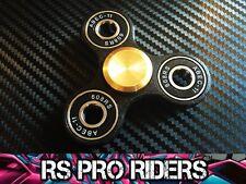 RS PRO RIDERS™ BLACK & BRASS FIDGET FINGER SPINNER CERAMIC ZRO2 HYBRID BEARING