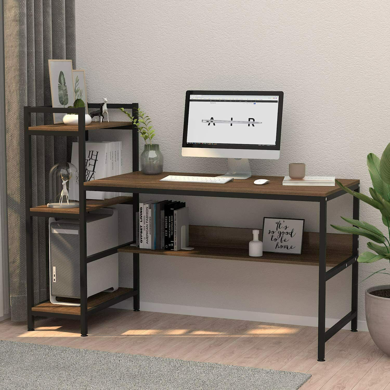 110cm Wooden Computer Desk With Bookshelf Black For Sale Online Ebay,Modern Japanese Houses