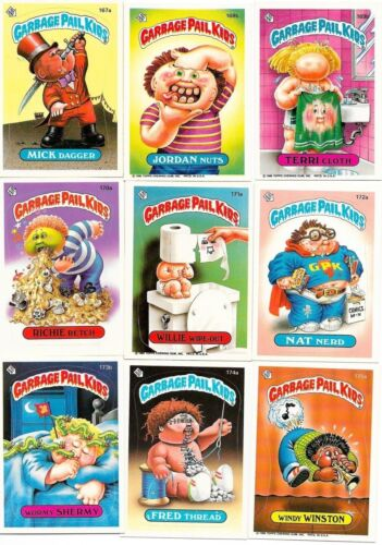 1986 MINT SET GARBAGE PAIL KIDS SERIES 5 COMPLETE