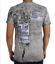 New Affliction HELLBOUND A10207 Men/'s Short Sleeve T-shirt Tee White Oil Stain