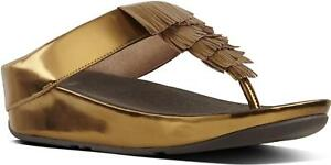 7f98e099dc8f1e FitFlop™ CHA CHA™ Ladies Womens Faux Leather Toe Post Fringe ...
