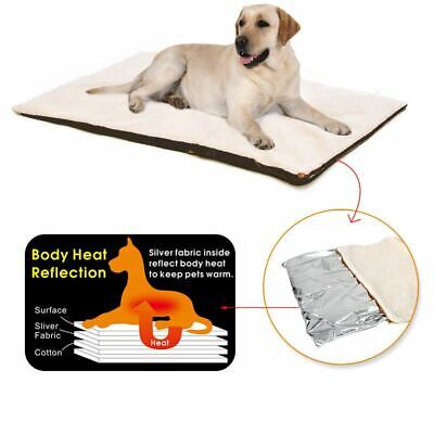 Pet Self Heating Pad Thermal Heated Warm Snug Super Soft Bed Dogs Cats Washable 5060013881589 | eBay