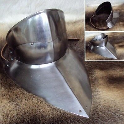 18 guage SCA steel Bevor fits Medieval neck guard perfectly costume gift item