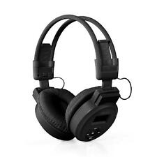 Foldable LCD Wireless Sport Headset Headphone MP3 Player  SD/TF Card FM -Black