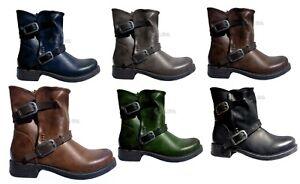 Femmes chaussures bottes cuir écologique bottines à gros